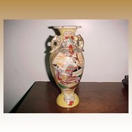 "Antique Satsuma Vase Urn, 19th Century 10"" Tall"