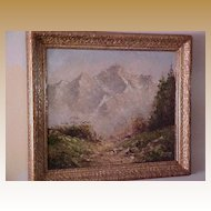 Impressionistic Landscape oil on canvas signed F. Winter, Munich