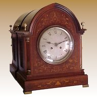 Massive Inlaid Edwardian Bracket Mantel Clock H & H  1901-10