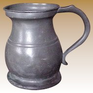 Pewter Quart Tankard Victorian 19th Century