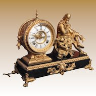 "Ansonia Mantle Clock ""Shakespeare"" 1890"