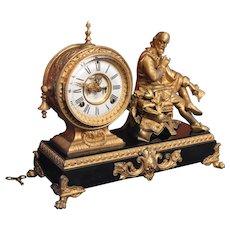 "Ansonia Mantle Clock ""Shakespeare"" 1890"