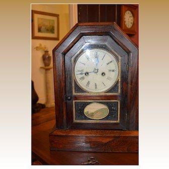 Large Jerome Connecticut Cottage Clock 1870