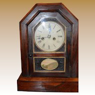 Large Jerome Connecticut Cottage Clock 1870