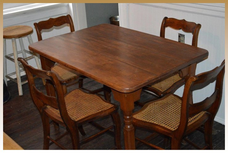 Antique American Breakfast Dining Set C.1870
