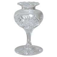 American Brilliant Cut Glass Stemmed Posy Vase.