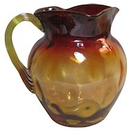 Victorian era Amberina Water Pitcher