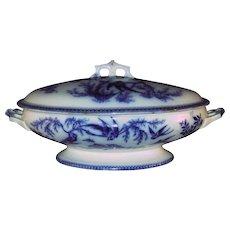 Flow Blue Tureen- 1870's