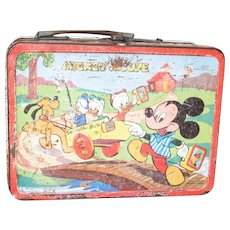 1954 Mickey & Donald Lunch Box