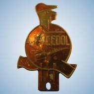 1930's Veedol oil license Plate Topper