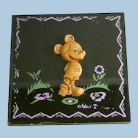 Mickey Mouse Ceramic Tile Circa 1943