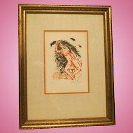 """"""" Sloth"""" Original Etching by Salvador Dali"""