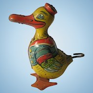 1930's Chein Wind up Long Billed Duck