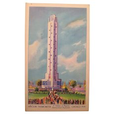 Post Card Havoline   oil Chicago's Worlds Fair 1934