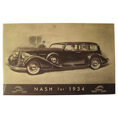 Post Card Nash for 1934 at World's Fair