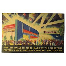 1934 Firestone Factory Building World's Fair
