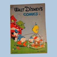 Dell Comic- Walt Disney's Comics- Donald Duck V. 11 #1 1950s
