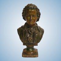 Vintage Mozart Bust Statue