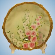 Vintage Nippon Bowl Floral Design with Gold Trim