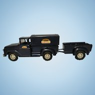 Tonka 1958 Sportsman stepside toy truck & camper with trailer