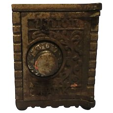 "Vintage Still Cast Iron "" Union Safe"" 1900 Bank"