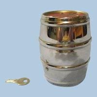 Vintage Chrome Barrel Still Bank