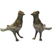Vintage Silver Plated Pheasant Salt & Pepper Shakers