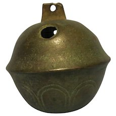 Vintage #12 Brass Sleigh Bell late 1800's