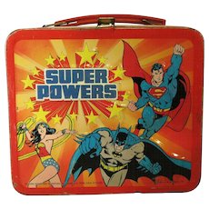 Lunch Box DC Super powers 1983