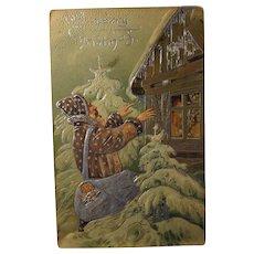 Santa Claus Post Card date 1910