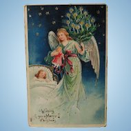 Christmas Angel vintage postcard