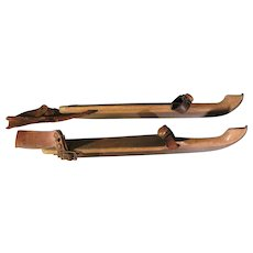 Vintage Dutch Wooden Ice skates