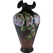 Fenton Glass Moonlit Poppies Vase