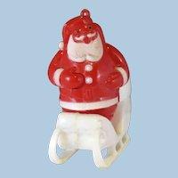 Vintage Santa Standing in a Sleigh