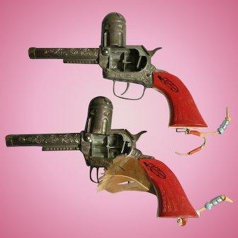 Vintage Toy Cap Gun Set