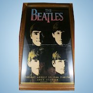 Vintage The Beatles Poster Shea Stadium 1966