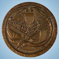 Vintage Large Brass Medallion Battle of New Orleans