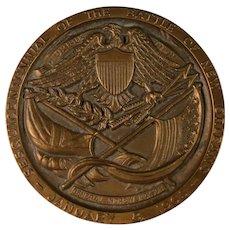 Vintage Large Brass Medallion Battle of New Orleans