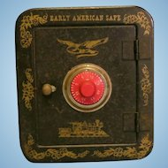 Vintage Tin Safe Bank