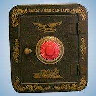 Vintage Tin Safe Bank