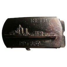 World War 11 Navy USS Reid  DD 369 Belt Buckle and Belt