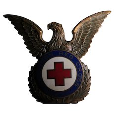 World War 11 American Red Cross Cap Insignia 1947