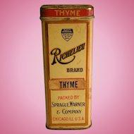 Vintage Richelieu Brand Thyme Tin