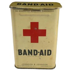 Vintage Red Cross Band Aid Tin