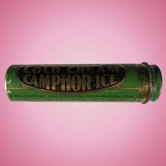 Vintage Hobson's Cold Cream Camphor Ice Tin