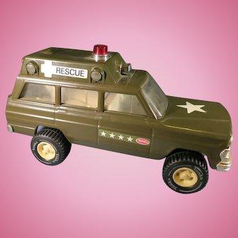 Vintage toy Tonka Jeep Army Rescue