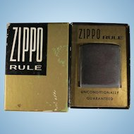 Vintage 1950's Zippo Rule new in Box