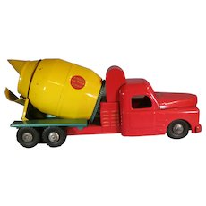 Toy Steel Structo Cement Mixer 1950's