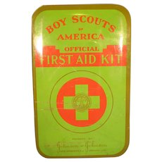 Vintage 1950's Boy Scouts First Aid Kit