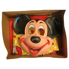 Vintage Mickey Mouse 1974 Costume & Mask